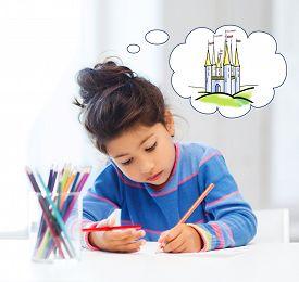 picture of little school girl  - people - JPG