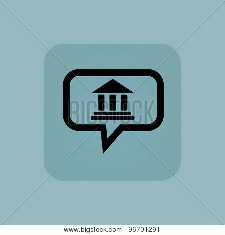 Pale blue museum message icon