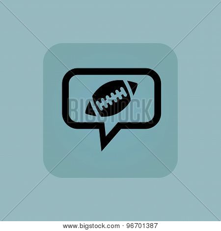 Pale blue rugby message icon