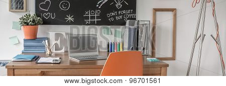Study Area In Child Room