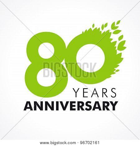 80 anniversary leaves logo