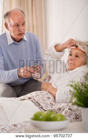 Worried Man And Sick Wife