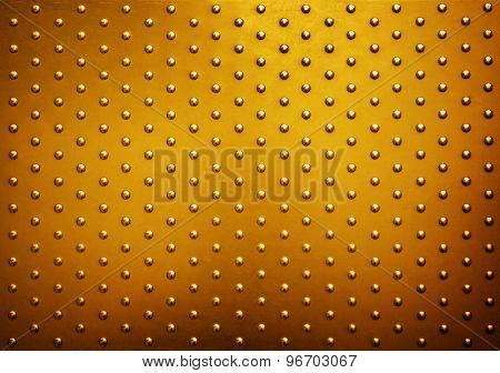 golden metal plate background