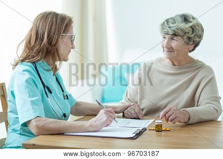 Doctor On Medical Home Appointment