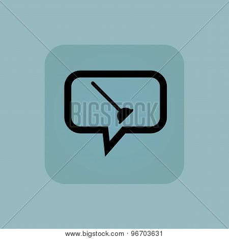 Pale blue plunger message icon