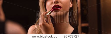 Woman Is Doing Make-up
