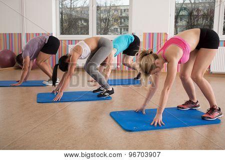 Pilates Workout On Foam Mattress