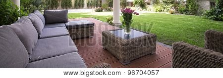 Comfortable Couch In The Garden