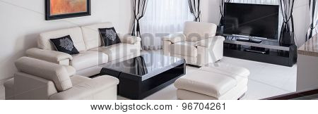 Bright Furniture In Living Room