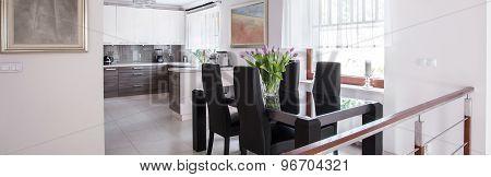 Dining Table In Elegant Interior