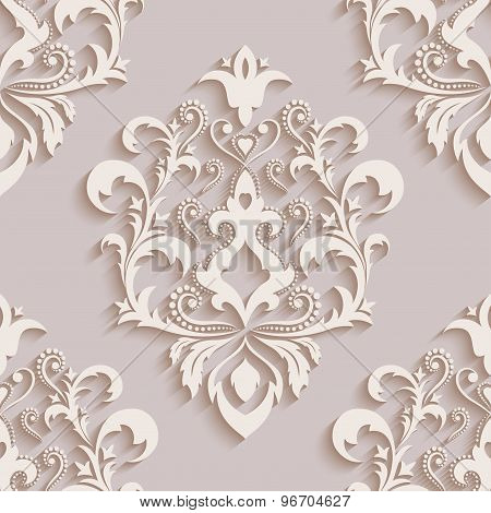 Seamless wallpapers in the style of Baroque