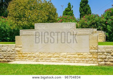 Wwi Monument, Haifa