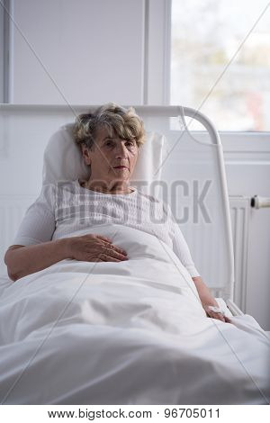Lonely Sick Woman
