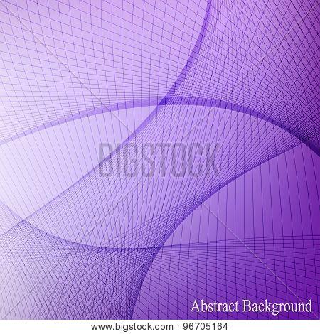 Curved lines on blured background. Vector illustration