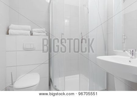 White Pure Toilet Interior