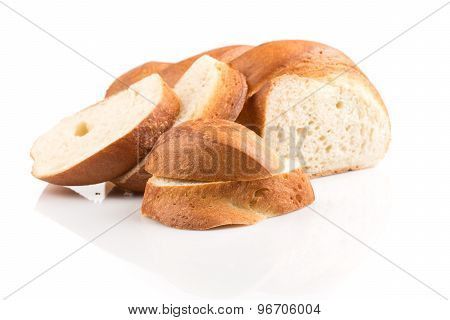 Bread Slice Isolated On White