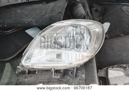 Night light lamp of a car