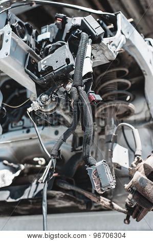 Auto parts dismantling yard.
