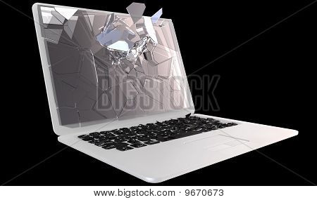 Cybercrime - Laptop Pc Crash