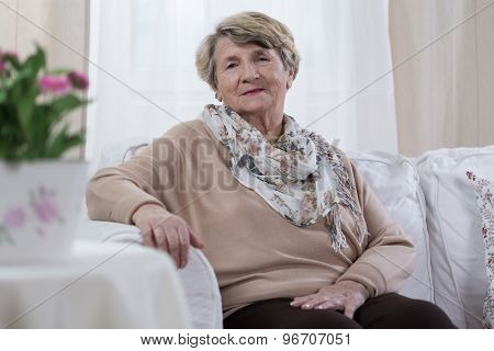 Elderly Melancholic Lady