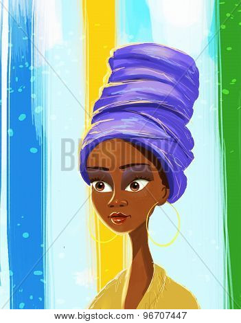 African woman colors