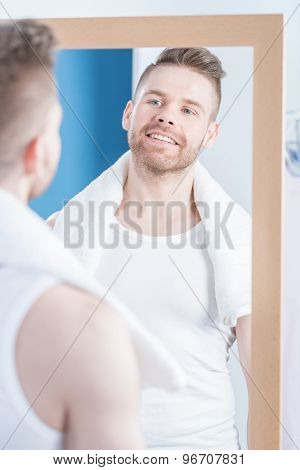 Looking In Mirror