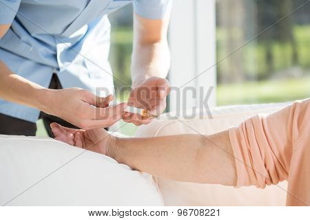 Man Doing Injection