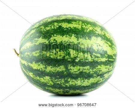 Water Melon Isolated On The White Background