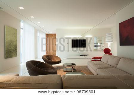 Drawing Room In Contemporary House