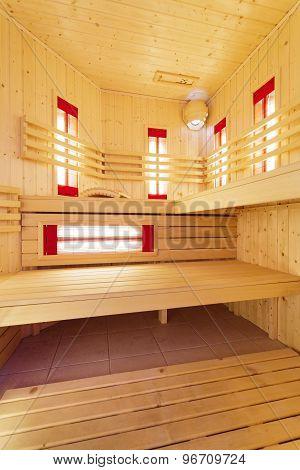 Modern Finnish Sauna Interior