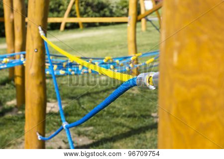 New Rope Climbing Frame In The Playground