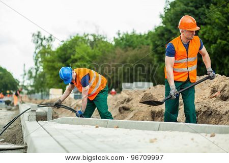 Construction Workers During Their Work