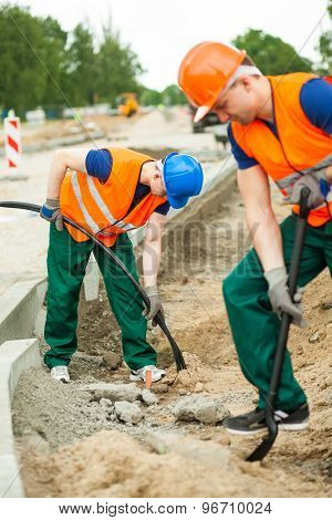 Physical Labourers Working Outdoors