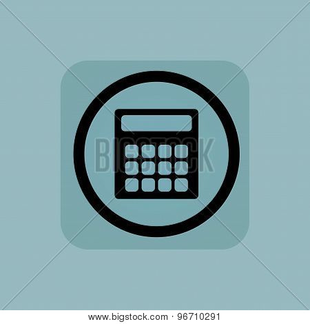 Pale blue calculator sign