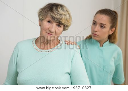Worried Old Female