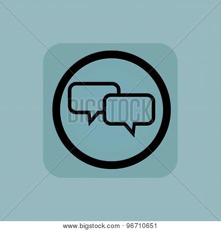 Pale blue chat sign