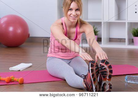 Woman Bending Down