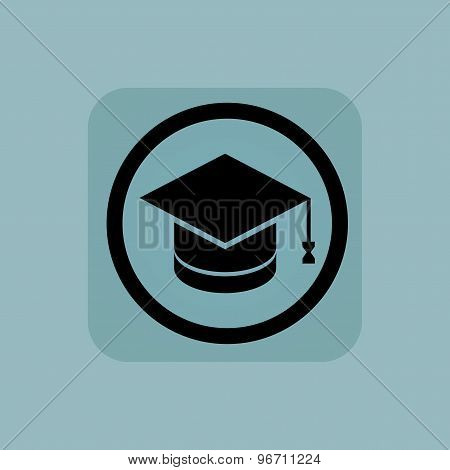 Pale blue graduation sign
