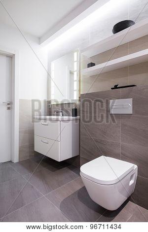 Grey Tiles In Bathroom