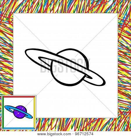 Cartoon Planet. Coloring Book