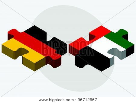 Germany And United Arab Emirates Flags