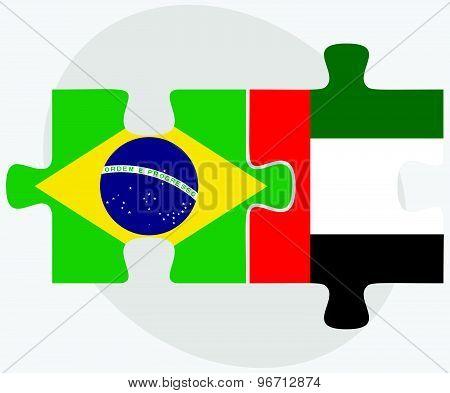 Brazil And United Arab Emirates Flags