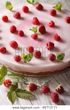 Beautiful Food: Raspberry Cheesecake With Mint Vertical