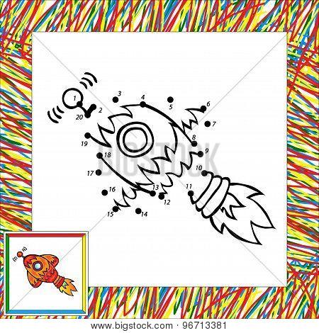 Cartoon Rocket (first). Dot To Dot