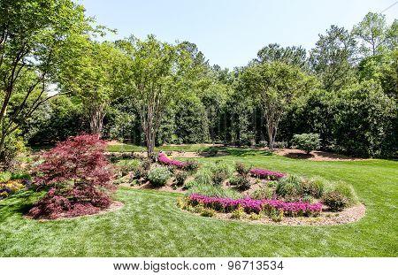 Spring Landscaping In Public Garden