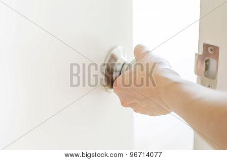 Hand Opening Door Knob,white Door