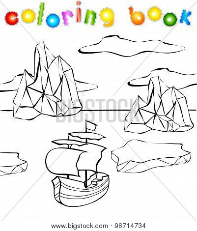 Sheep And Icebergs Coloring Book