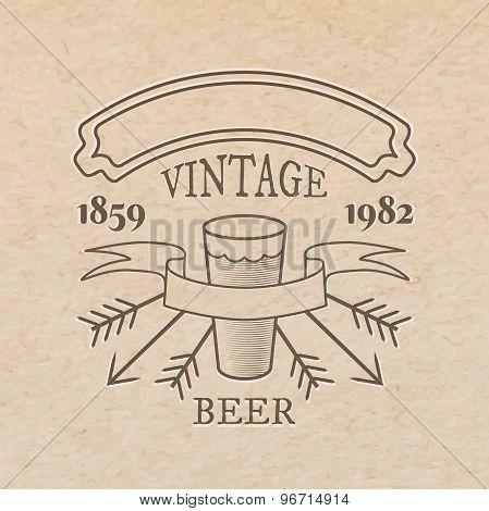Beer Glass Label