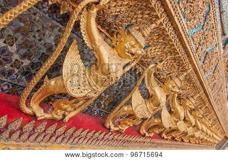 Garuda In Wat Phra Kaew, Temple Of The Emerald Buddha, Thailand.