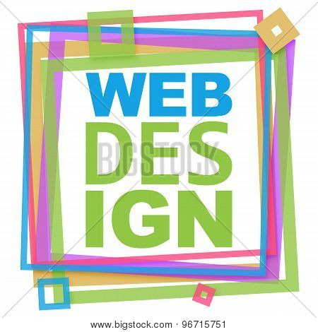 Web Design Vibrant Text